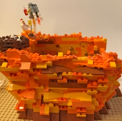The textured side of Gravity Hill. I think this color palette is underutilized in LEGO.